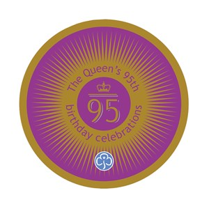 The Queen's 95th birthday celebrations woven badge
