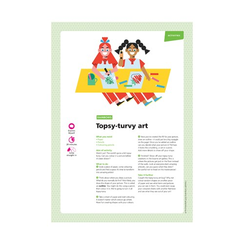 Topsy-turvy art UMA